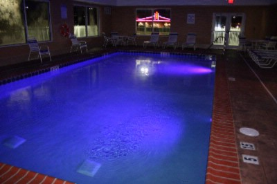 Pool At Night With Colored Strobe On 4 of 17