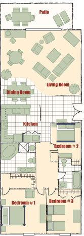 3- Bedroom Layout ( No Washer & Dryers) 4 of 11