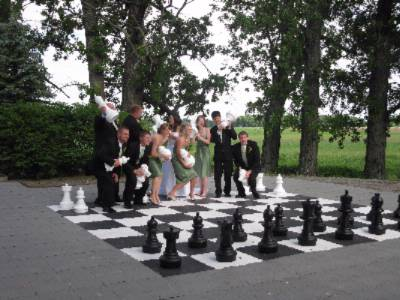 Play -Life Sized Fun Games Chess -Corn Hole -Checkers 9 of 10