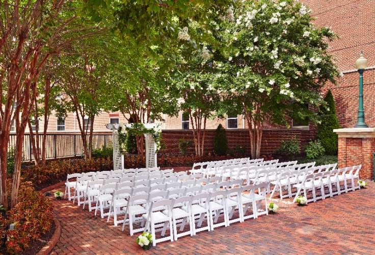 Our Courtyard Is The Perfect Location For An Outdoor Luncheon Reception Or Dinner 6 of 8