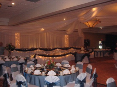 Ballroom Set Up For A Wedding 7 of 14