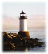 Lighthouse at Winter Island\'s beach 6 of 6