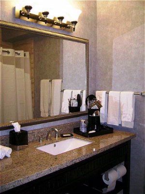 Roomy Luxury Bathroom With The Exclusive Holiday Inn Express Shower Head 5 of 10