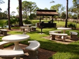 Barbecue Gas Grills And Picnic Area- Screened In Area With Tables & Chairs Right Off The Clubhouse 6 of 11