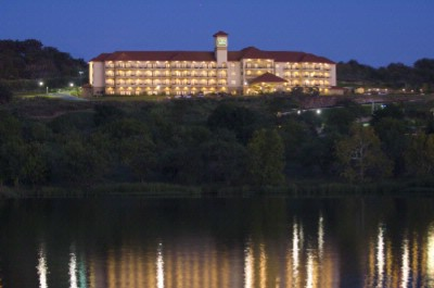 Night View Of The Hotel From Across Lake Marble Falls 4 of 16