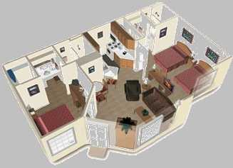 Two Bedroom Trio Layout 2 of 10