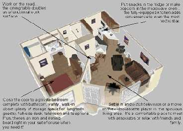 One Bedroom Suite Layout 3 of 10