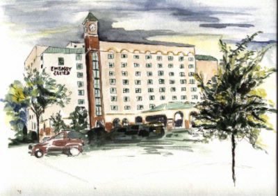 Watercolor Of Hotel Exterior 3 of 11