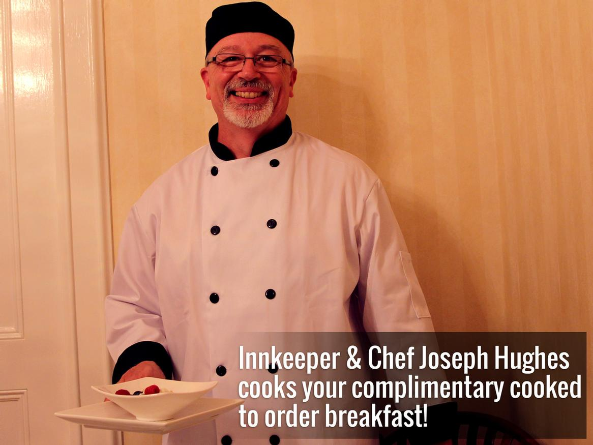 Chef Joseph Hughes Cooks Your Complimentary Cooked To Order Breakfast 6 of 16