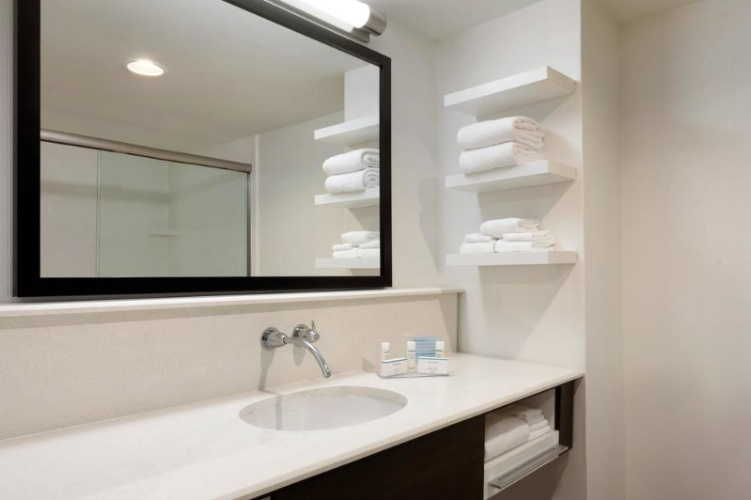 Suite Stainless Steel Bathroom W/ Walk In Shower 12 of 17