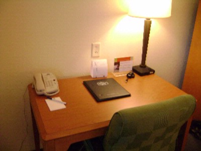 Well-Lit Ergonomically Correct In-Room Workspace 5 of 12