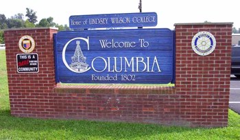 Columbia Welcome Sign 14 of 14