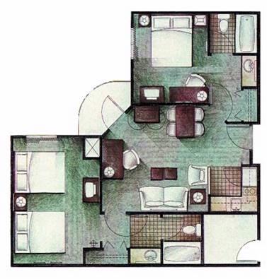 Two Bedroom Suite Layout 25 of 31