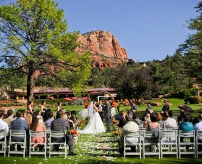 Wedding Ceremony On Golf Course 4 of 15