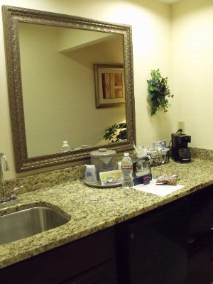 Wet Bar Has A Mini Frigerator And Microwave In Our King Suite 22 of 31