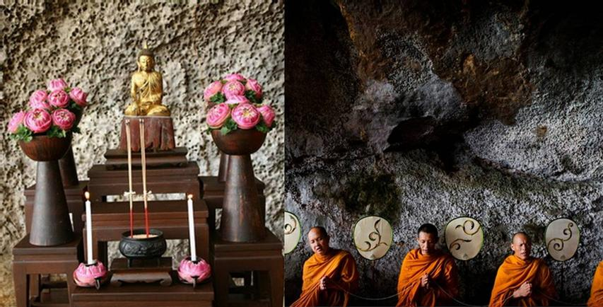 Thai Monks Blessing Ceremony At The Grotto 5 of 11
