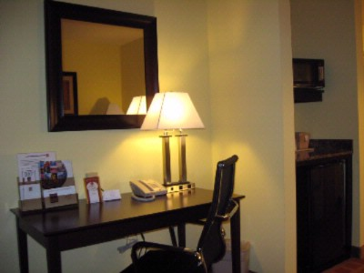 1 Room Suite Work Desk With Mini Fridge/microwave 6 of 13