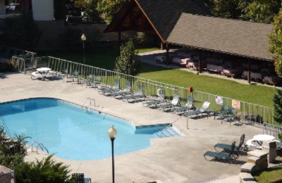 Our Beautiful Outdoor Pool And Riverdeck Pavilion Located On The Banks Of Leconte Creek 3 of 10