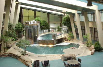 If You Can Picture Cascading Waterfalls Massaging Jacuzzi 2-Story Indoor Swimming Pool Themed In A Smoky Mountain Setting And A Putt-Putt Course By The Water You Are Enjoying The Glenstone Lodge's Largest Indoor Pool Arena In The Smokies! 7 of 10