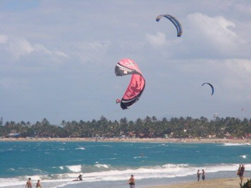 Kitesurfing At Cabarete Beach 9 of 15