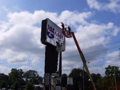 New Sign Being Put Up 15 of 15