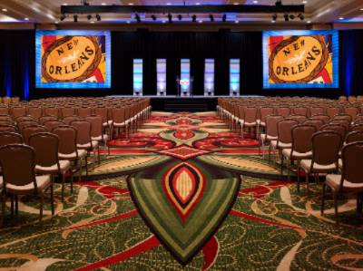 The Grand Ballroom At The New Orleans Marriott Boasting More Than 27000 Square Feet Of Stylish Space Can Host A Theatre-Style Meeting For Up To 2700 Attendees. 7 of 15