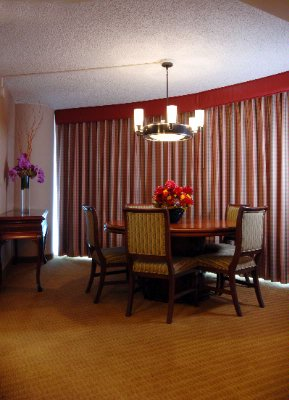 Our Double Bed Suites Also Offer Comfortable And Convenient Living Room Like This Work/dining Room Table. 5 of 14