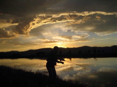 Fly Fishing On Resort Private Ponds 16 of 16