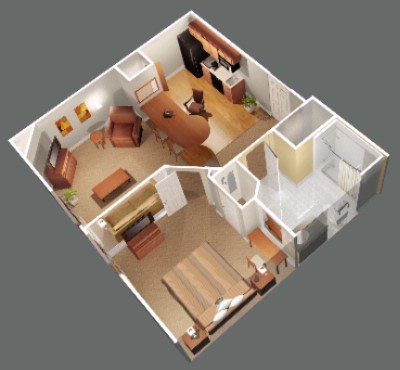 1 Bedroom Layout 5 of 5