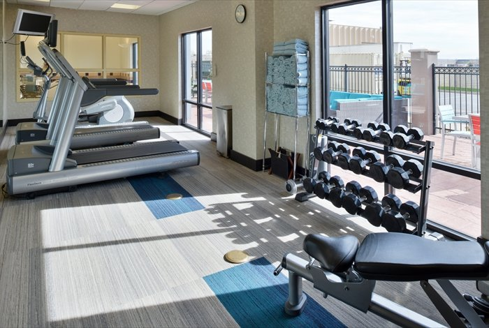 While Away From Home Don\'t Let Your Workout Routine Fall By The Wayside. Our Hotel\'s Fully-Equipped Fitness Center Will Help Keep You On Track. 7 of 12