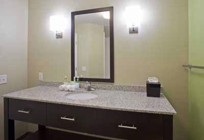 Guest Room Bathroom At The Holiday Inn Express & Suites Rogers Mn 17 of 22