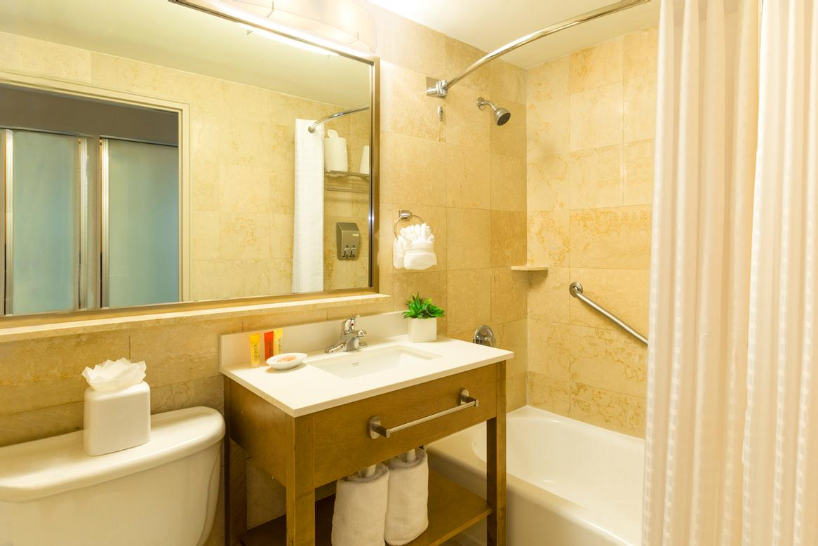 Best Western Plus Atlantic Beach Marble Bathroom 16 of 31