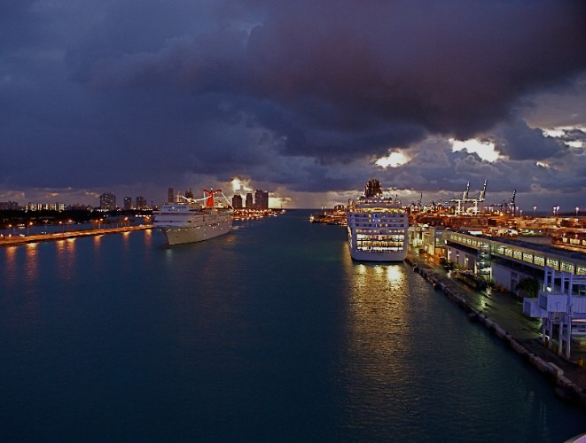 Cruise Ships Arriving At The Port Of Miami Near The Seagull Hotel Miami Beach 19 of 20