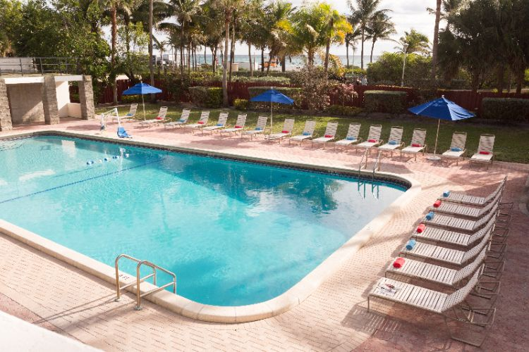 Outdoor Pool Near The Ocean And Beach At The Seagull Hotel Miami Beach 8 of 20