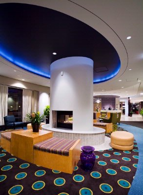 Springhill Suites Trendy Plush Lobby 3 of 7