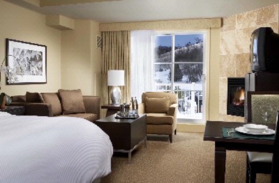 A Deluxe Guest Room With A Kitchenette Fireplace Queen Heavenly Bed And Double Sofa Bed 5 of 9
