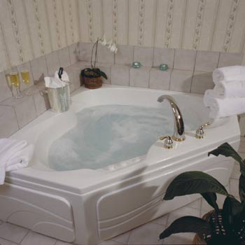 All Of Our Guest Rooms Have Whirlpool Baths Some Have Two Person Jacuzzi's. 7 of 10