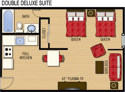 Double Queen Suite Layout 11 of 13