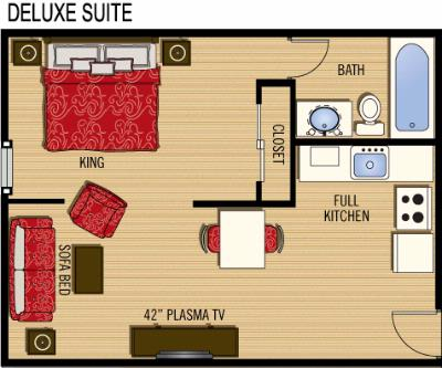 Deluxe Suite Layout 10 of 13