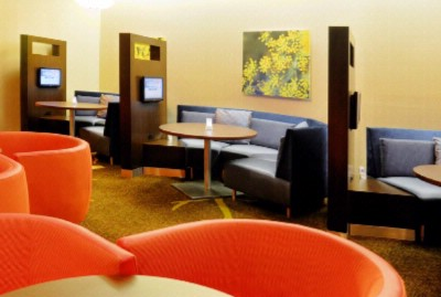 Work Or Enjoy A Meal In A Media Pod In The Lobby With Your Own Tv 10 of 12