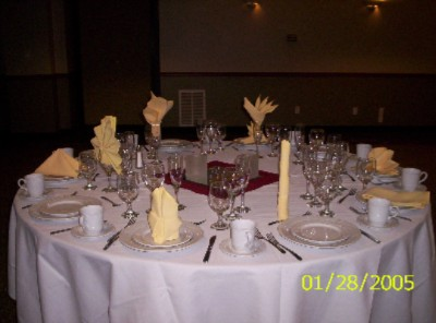 Options For Table Settings 3 of 6