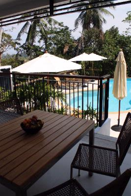 2 Bedroom Pool Access Apartment\'s Terrace Area 8 of 28