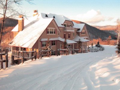 Cap Tremblant Winter Scene