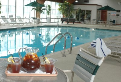 Enjoy Our Large Indoor Pool Area With Whirlpool Sauna Fitness Center And Game Room 4 of 5