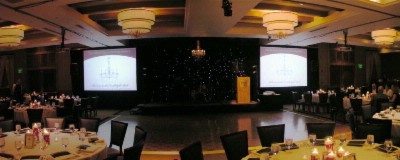 Ballroom Set For Presentation Dinner 4 of 13