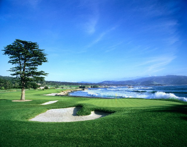18th Green At Pebble Beach Golf Links 5 of 9