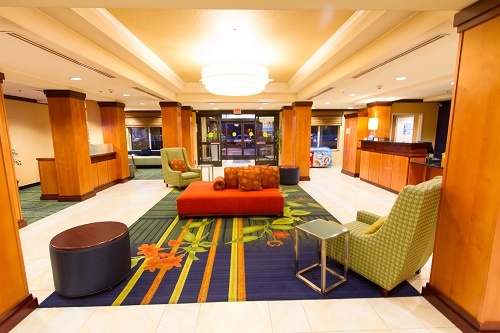 The Lobby Is Bright And Lively And Offers Guests Plenty Of Space To Gather Work And Relax. 10 of 16