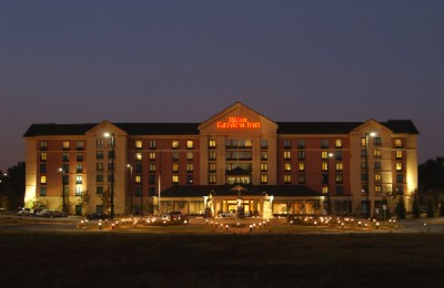 Hilton Garden Inn Atlanta Airport / Millenium Cent Evening View Of Hotel