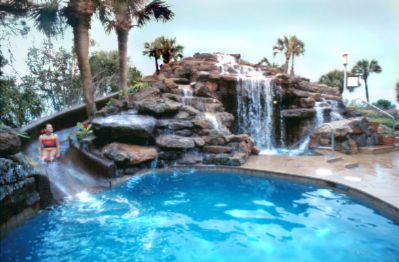 Poolside Waterslide & Plunge Pool 8 of 10
