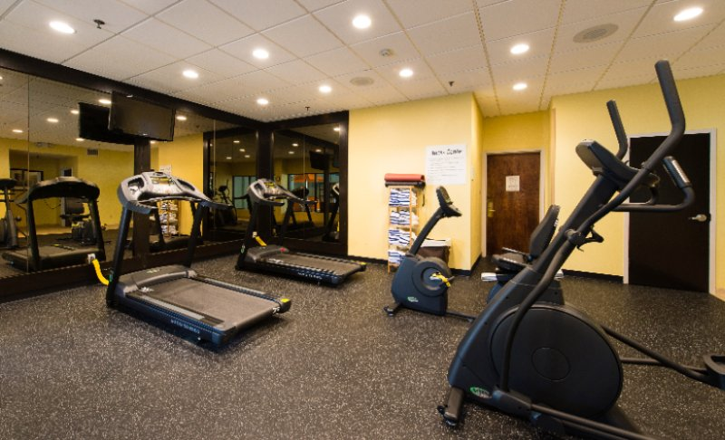 Cardio Fitness Room With Free Weights 28 of 31